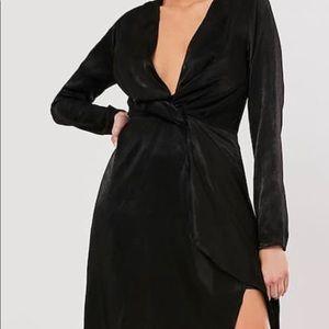 Formal black maxi dress
